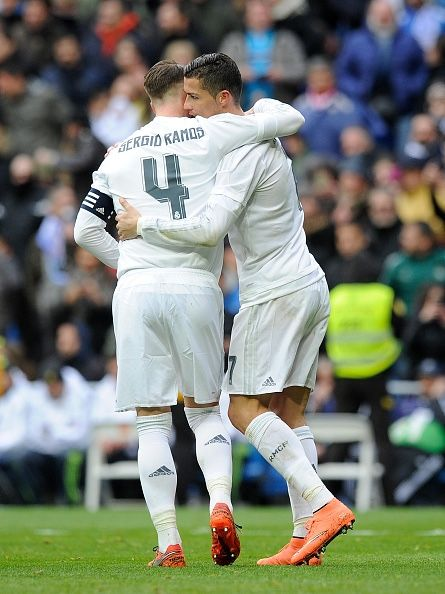 Ramos congratulates CR7 for goal vs Celta