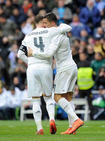 Ramos congratulates CR7 for goal vs Celta