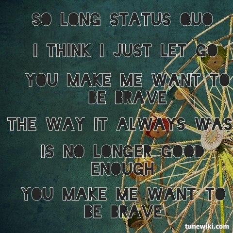 "-- #LyricArt for ""Brave"" by Nichole Nordeman"