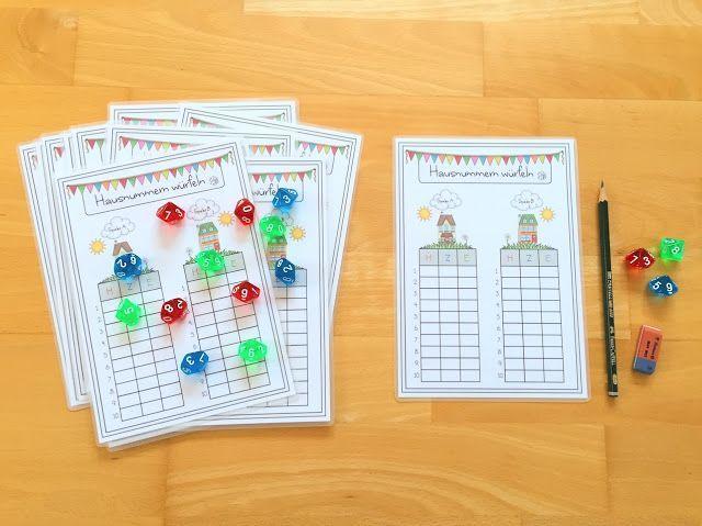 Hausnummern würfeln in der Grundschule | materialwiese | Bloglovin'