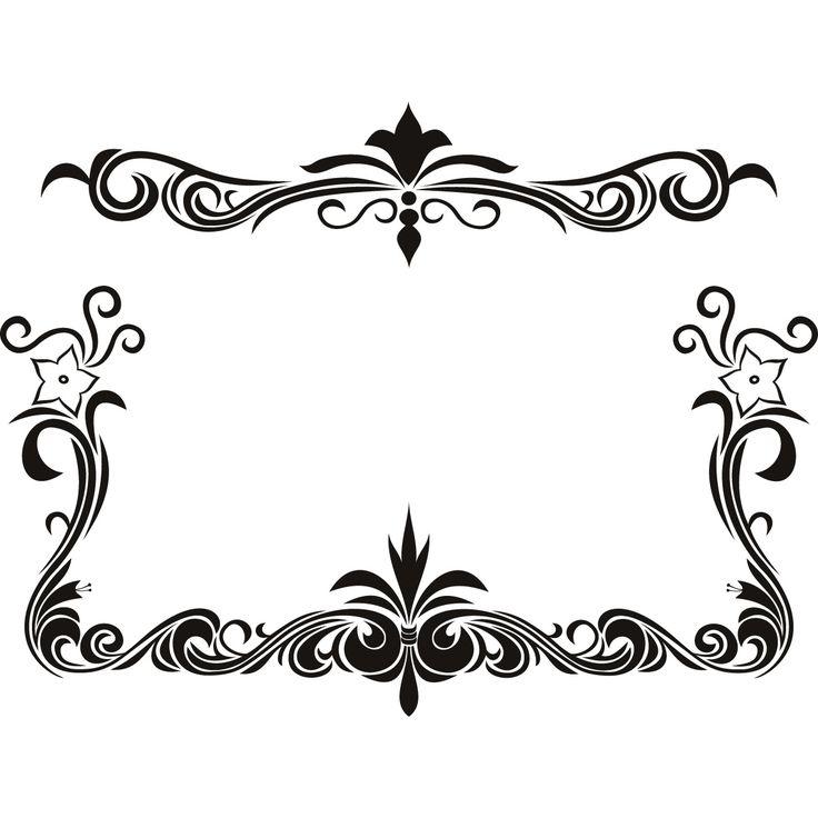 black flower page borders design sadiakomal