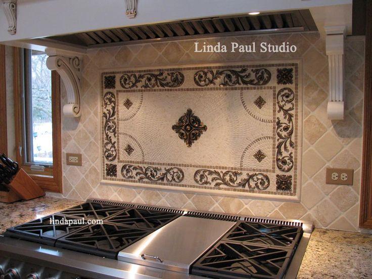 1000 images about kitchen on pinterest kitchen for Kitchen backsplash medallion