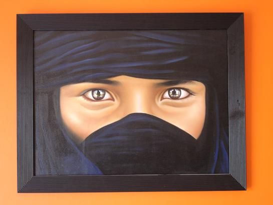 Masked Lady Oil Painting - Made in Thailand
