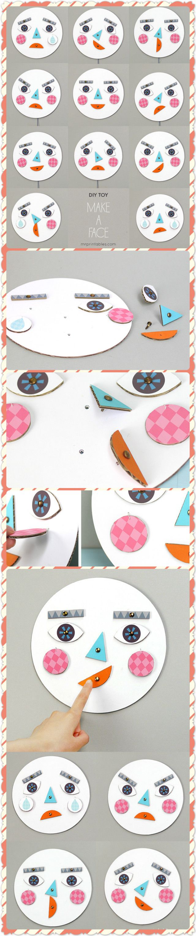Make a face DIY Toy for teaching emotion identification
