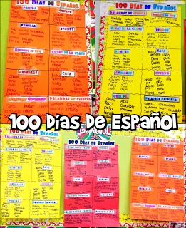 Classroom Freebies: Spanish 100th Day Word Activity