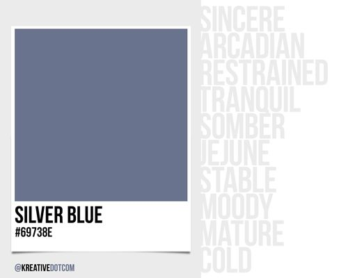 How does the color silver blue 69738e make you feel - How colors make you feel ...