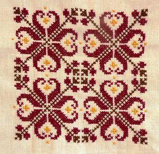 Traditional Bulgarian Motif cross stitch pattern