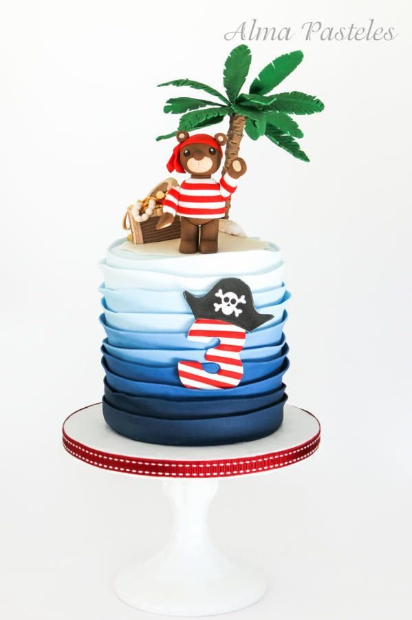 Little pirate bear - Cake by Alma Pasteles