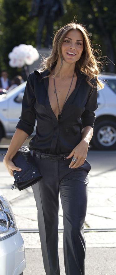super chic business attire {maybe button the top button before entering the office!}