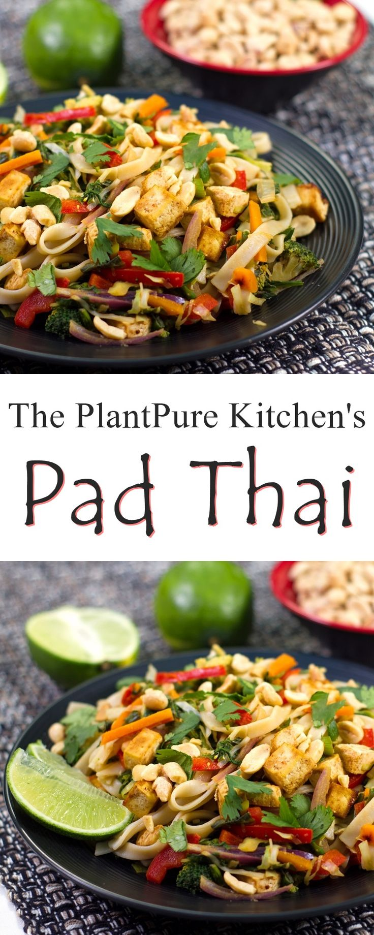 Vegan Pad Thai Recipe from The PlantPure Kitchen (plant-based, dairy-free, gluten-free, oil-free, optionally nut-free and healthy!)