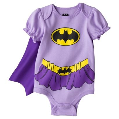 Batman® Newborn Girls' Batgirl Caped Bodysuit - Purple