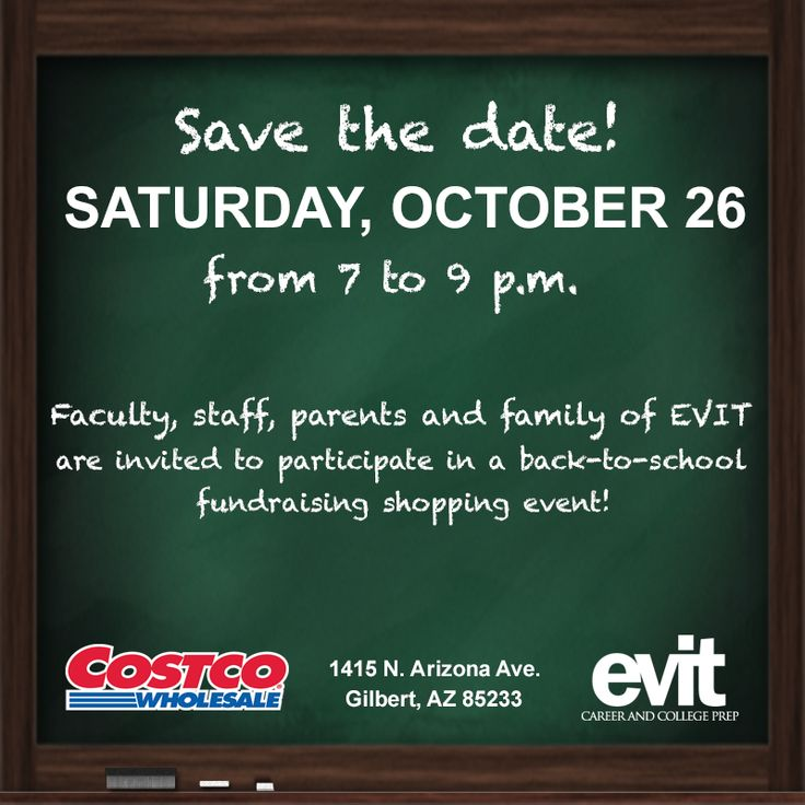 Costco save the date in Perth