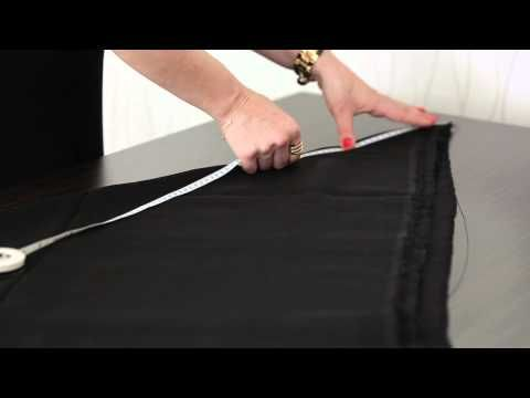 Kloş etek kumaşı nasıl kesilir? - YouTube