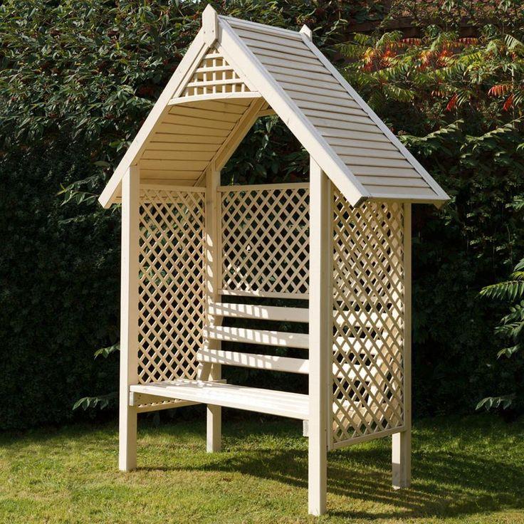 Grange Valencia Wooden Garden Arbour Seat   Internet Gardener