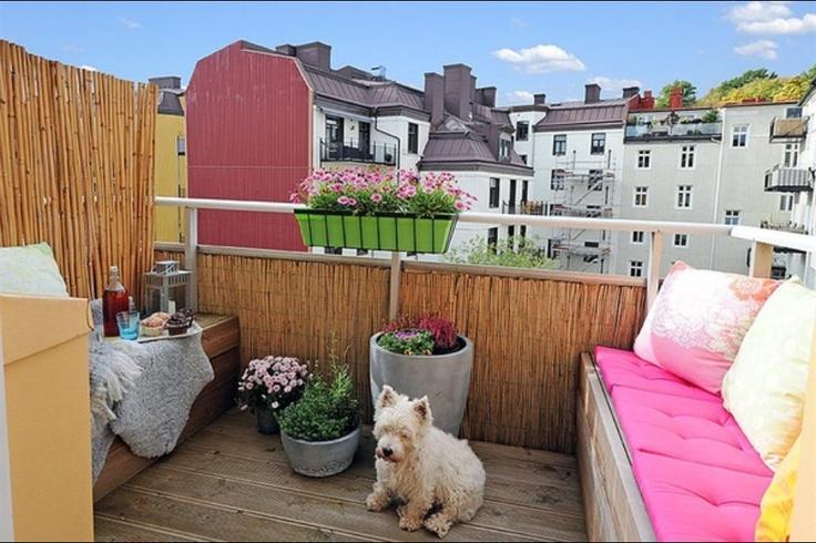 Colourful balcony