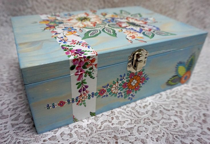 Decorated Box, Decoupage, Dekupaz, Tanning