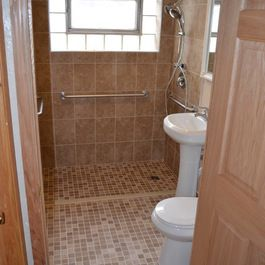 "small ada ""wet room"" bathroom design ideas, pictures"