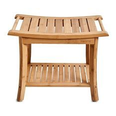 Plan to purchase Bamboo Shower Bench With Storage Shelf