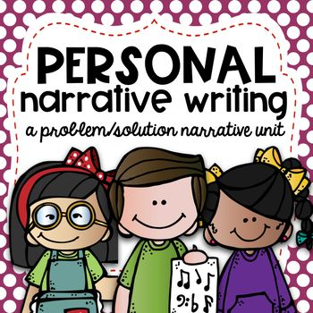 """This is a perfect personal narrative unit for grades 2-5. I teach second grade and the kids loved it and did so well with it! I teach personal narrative where the students choose a true story where they overcame a problem or learned a lesson. This creates a true climax in the story!  Here's what's included: (Click """"preview"""" to see it all!) Page 3: Common Core Alignment for Grades 2-3 (can be aligned for other grades) Page 4: Suggested Lesson Outline Plan ..."""