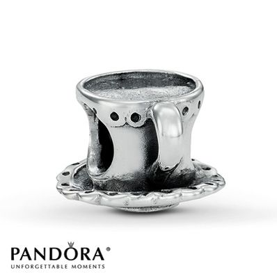 Pandora Tea Cup and Saucer Charm. Bought this as a treat for myself to remind me of my grandmother. You haven't tasted tea until you've had it in a real china cup.