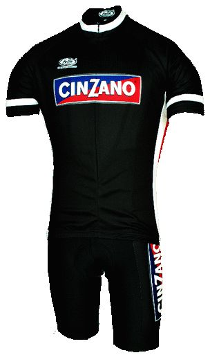 Cinzano Retro Cycling Jersey made in Italy by Pella