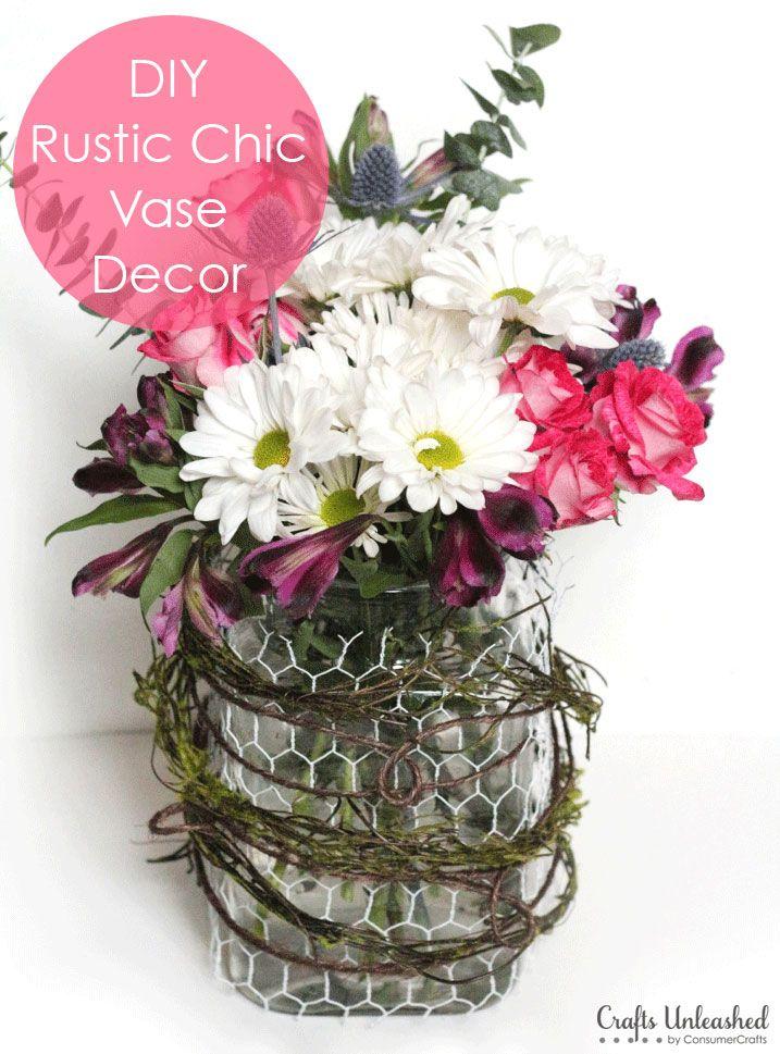 Glass Vase Decor: DIY Rustic Chic Vase Tutorial