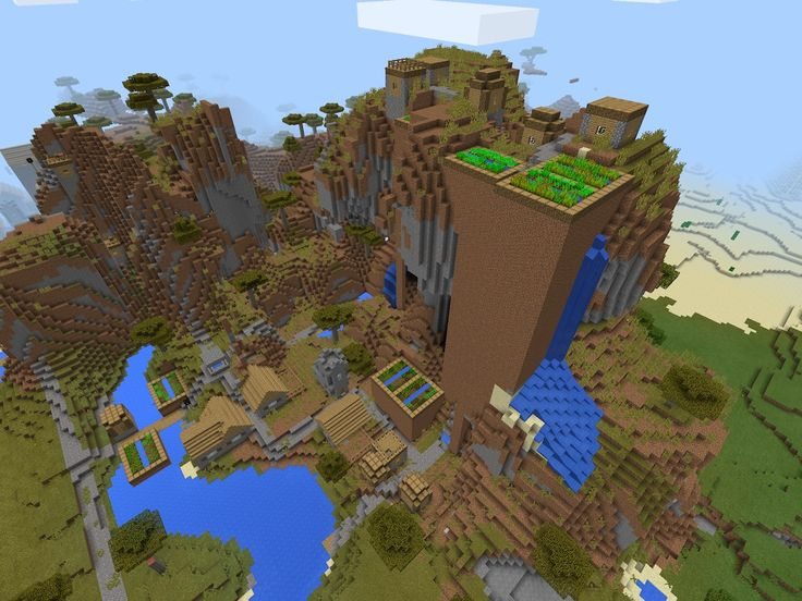 Seed: 1408106526. Tested: it works and its awesome! There is a stronghold beneath the village well with a portal but I couldn't find the portal.