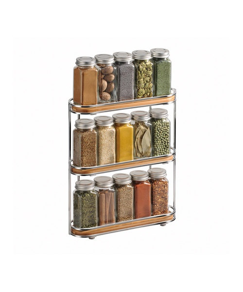 <p+style='margin-bottom:0px;'>Finely+crafted+from+renewable+and+sustainable+bamboo+wood,+this+spice+rack+makes+a+stylish+and+handy+organizing+accessory.+Three+separate+shelves+with+metal+rails+mean+there's+plenty+of+room+to+spice+things+up.<p+style='margin-bottom:0px;'><li+style='margin-bottom:0px;'>10.4''+W+x+12.94''+H+x+2.88''+D<li+style='margin-bottom:0px;'>Bamboo+/+steel<li+style='margin-bottom:0px;'>Imported<br+/>