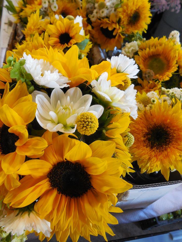 Sunflower bouquets.