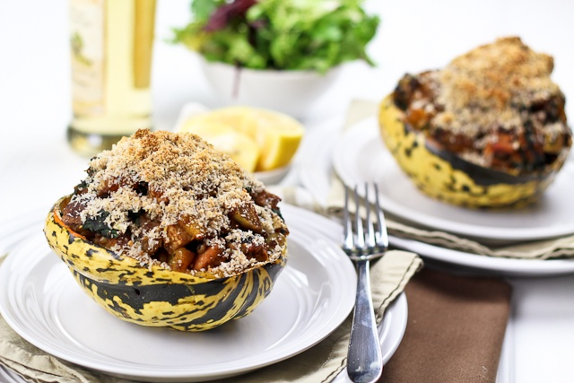 Turkey Stuffed Carnival Squash | by Sonia! The Healthy Foodie