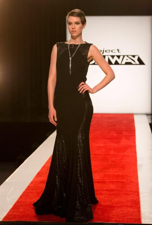 Project Runway Season 13 Rate the Runway Kini Zamora Episode 5 Look  I just wish he had put the necklace in the back, for visual interest.