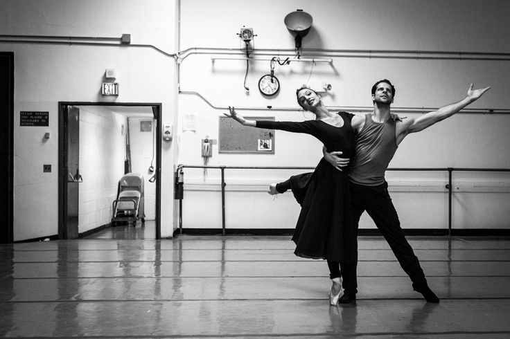 This morning, Dorothée Gilbert, Danseuse Étoile de l'Opéra National de Paris and Marcelo Gomez, Principal Dancer at the American Ballet Theatre, rehearsing Romeo & Juliet at the Lincoln center in New York. Photography by James Bort