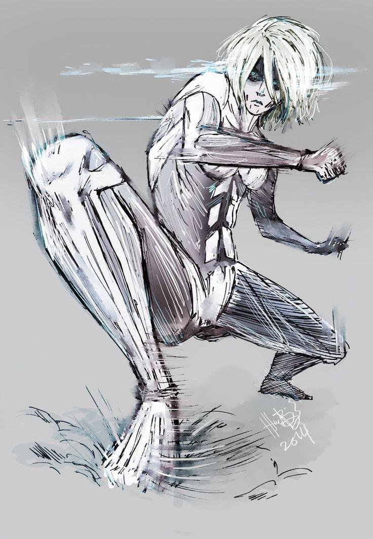 Tranquil Fury by lllannah on DeviantArt. Female Titan. Attack on titan. 進撃の巨人. Shingeki no Kyojin. Anime. Illustration. Атака титанов. #SNK. #AOT