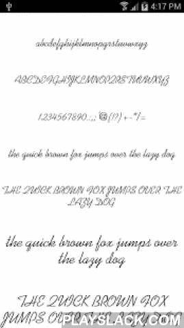 Fonts For FlipFont Romance  Android App - playslack.com ,  This Font Pack contains 50 Romantic fonts for Samsung Galaxy devices designed to be compatible with Monotype Imaging Inc.'s FlipFont® program and will install new free fonts on your Samsung Galaxy that are compatible with the FlipFont® program on your phone. NOTE: This App is NOT sponsored, endorsed, or affiliated with Monotype Imaging, Inc, the owner of the FlipFont trademark and technology.Please enjoy this pack of Fonts for…