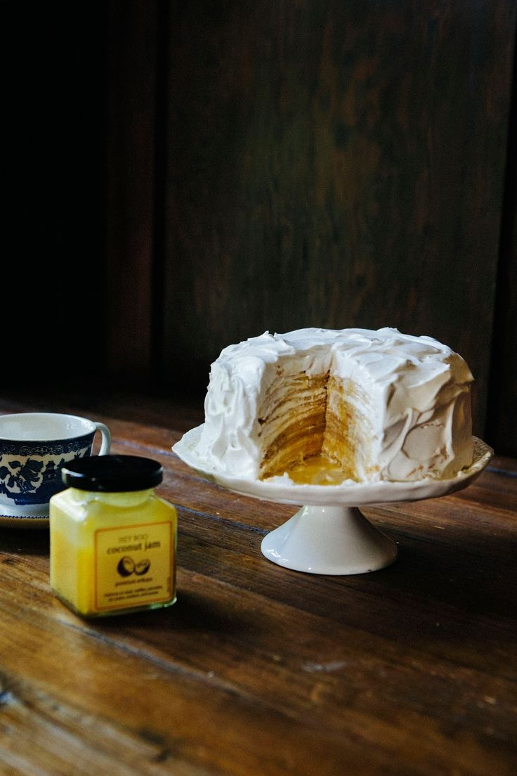 Coconut Cream Crepe Cake - Hummingbird High - A Desserts and Baking Food Blog in San Francisco
