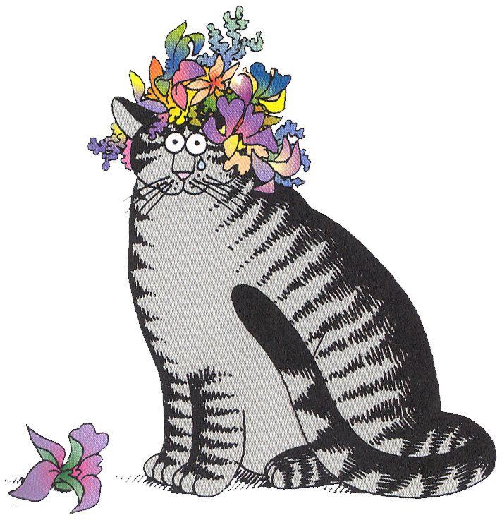 Flower Cat by B. Kliban