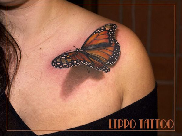 Tatouages 3d tatouage en relief papillon 15 tatouages 3d tonnants tatouage tatoo relief photo - Tatouage de papillon ...