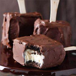 brownie ice cream bars: Chocolates, Ice Cream Sandwiches, Chocolate Covered, Food, Recipes, Covered Brownie, Brownies, Icecream