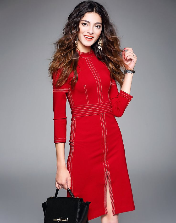 Red dress 3 4 in to mm
