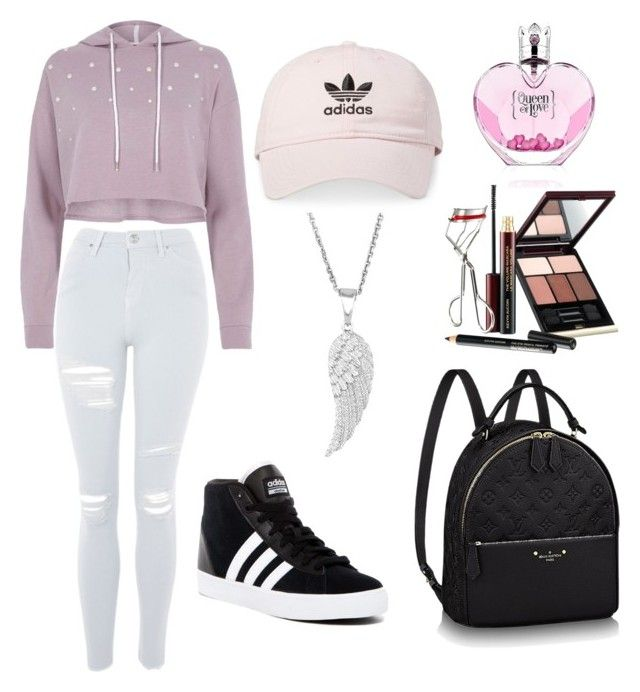 """Queen of love"" by kehichabelle on Polyvore featuring River Island, Topshop, adidas and Kevyn Aucoin"