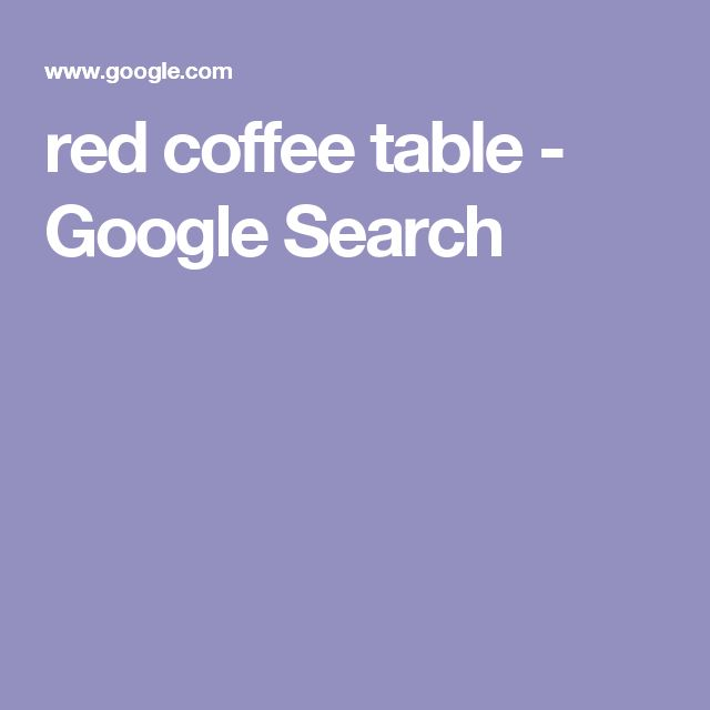 red coffee table - Google Search