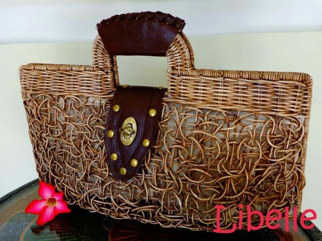 The wicker is a lovely handcrafted handbag, made from rattan combined with cow hide. Check our beautiful unique bags on www.facebook.com/libellenaturalbags or Instagram/libellenaturalbags