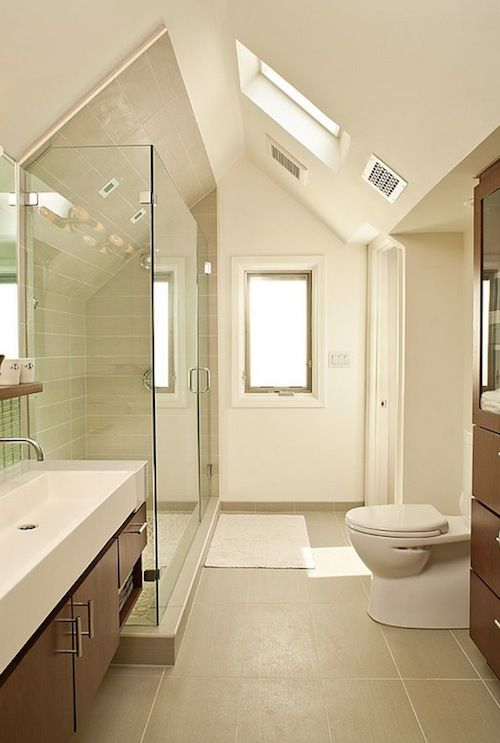 Amazing Sloped Bathroom Ceiling Design, Pictures, Remodel, Decor And Ideas