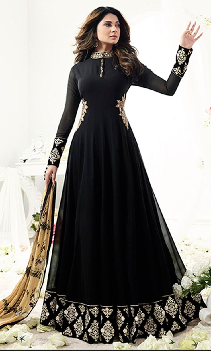 Buy online Black Designer Floor Length Anarkali Suit (SKU Code : SUEMUG1108) at Ishimaya Fashion.