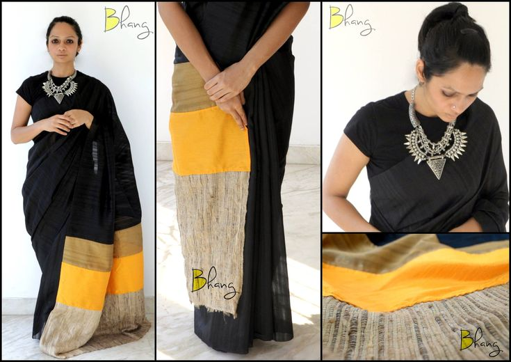 'Bhang' by Swathy - Meet Swathy, the founder and designer of her own fabulous brand – 'Bhang', my new found love! At the core of the design, 'Bhang' is bold, daring and seductive, and that description fits both the designer and her designs. There's something about the designers who model their own work. http://sareedreams.com/2015/03/bhang-by-swathy/