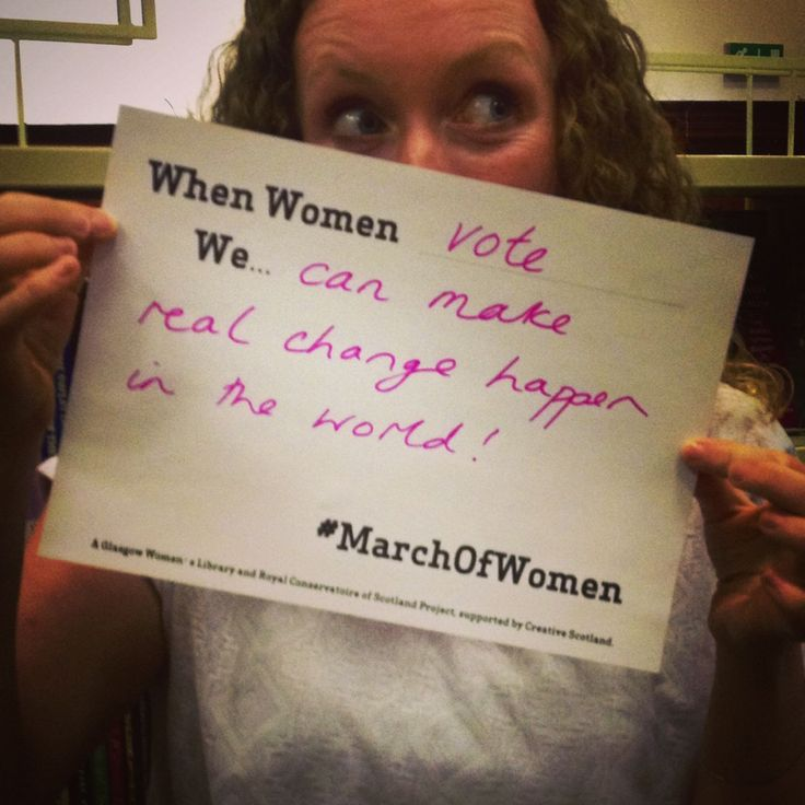 When Women Vote…..