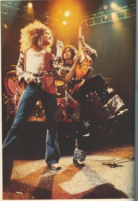 Led Zeppelin. Look at jimmy! He's so funny!