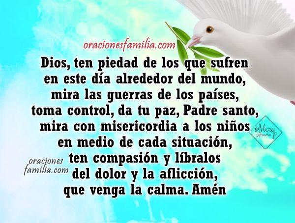 Oración Por La Paz Del Mundo Oraciones De Familia