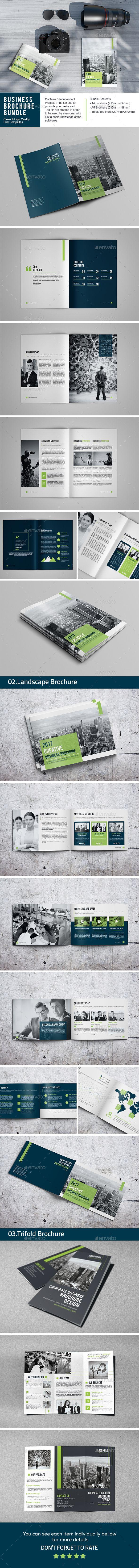 Business Brochure Template InDesign INDD Bundle