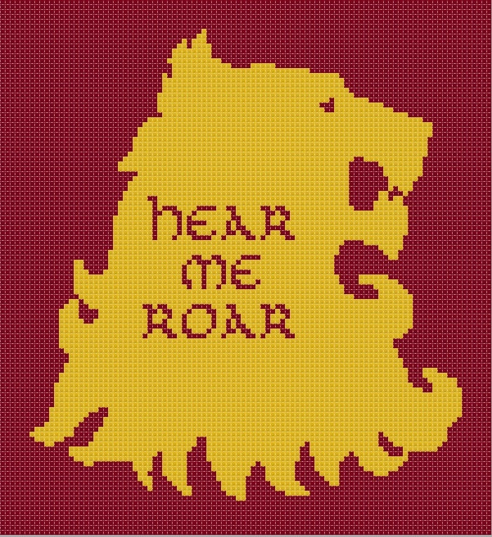 Game of Thrones Lannister House sigil counted cross stitch printable PDF pattern. £2.30, via Etsy.
